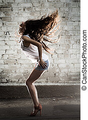 Dance Girl Luxury Hairs - Beautiful, slim model with chic...