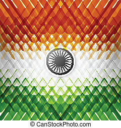 The tricolor of the Indian national flag with colorful texture v