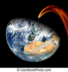 Meteor Asteroid Comet Earth