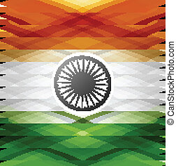 Indian flag 15th of August texture colorful grunge vector backgr