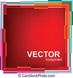 Frame colorful border mosaic pattern vector background