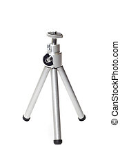 Tripod stand studio isolated over white