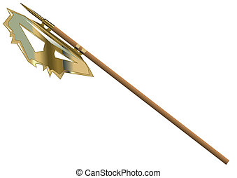 halberd isolated on white background. 10 EPS