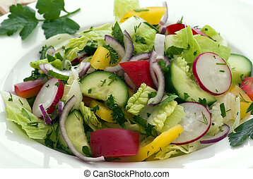 Mixed salat - mixed salat on a plate