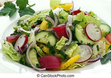 Mixed salat - mixed salat on a plate