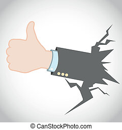 Thumb Up Like Hand Gesture Vector