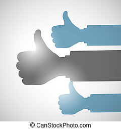 Thumbs Up Like Hands