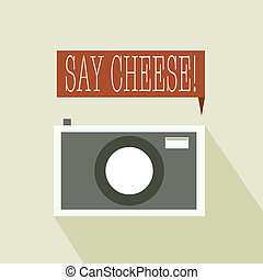 Say cheese to the camera vector