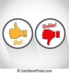 Like dislike icon
