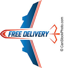 Free Delivery air cargo image logo