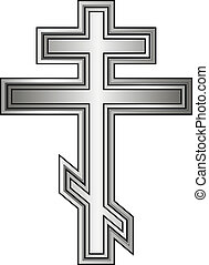 Religious orthodox cross icon on white background Vector...
