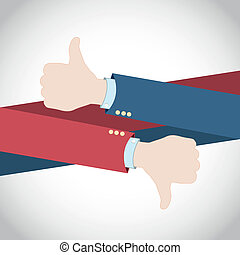 Like Dislike Hands vector