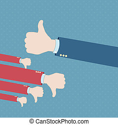 Thumb up hand win vector