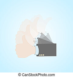 Like hand action vector