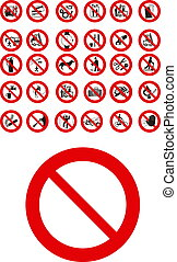 Prohibited signs  - public  prohibited signs