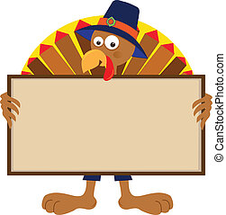 Turkey Holding Sign