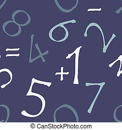 Seamless pattern (numbers with rough edges)