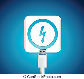 charging battery illustration design