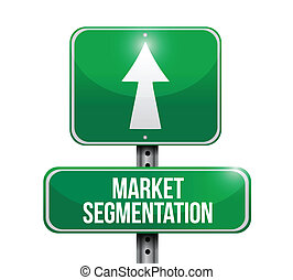 market segmentation sign illustration design over a white...