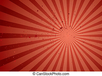 radiate red grunge - Red abstract background with radiating...
