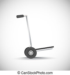 Empty metal hand truck vector