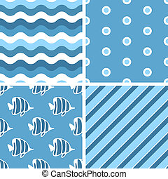 Vector seamless tiling patterns. For printing on fabric,...