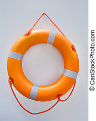 lifebuoy ring on wall