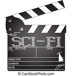 Clapper Board Sci-Fi - A director's 'sci-fi' clapper board...
