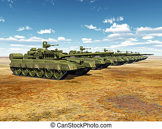 Russian Main Battle Tanks - Computer generated 3D...