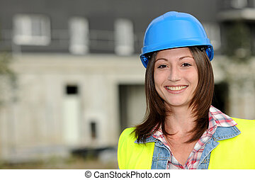 Portrait of smiling constuction worker