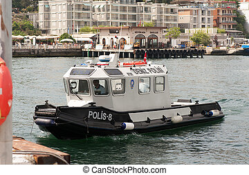 Water police Boat - Guarding water police Boat in Turkey