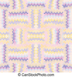 Grunge striped zigzag symmetricai seamless pattern in pastel colors