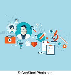 Concept for medical services - Flat design vector...