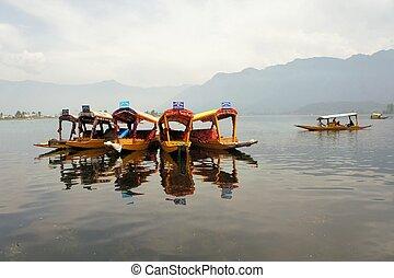 Shikara boats in Dal lake, Srinagar, Kashmir