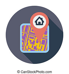 GPS map icon.