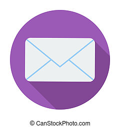 Envelope flat icon. - Envelope. Single flat color icon....