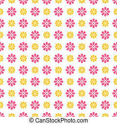 Light summer vector seamless pattern (tiling). Fond pink,...
