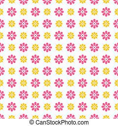 Light summer vector seamless pattern (tiling). Fond pink,...