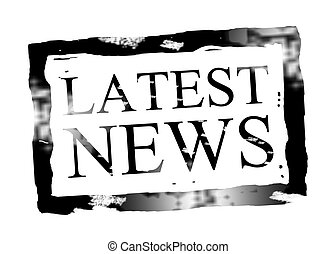 Latest News - Black latest news stamp on white background