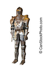 Metal armour - Vintage metal armour isolated with clipping...