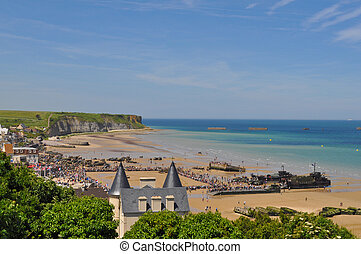 D-Day celebrations in Arromanches - ARROMANCHES, FRANCE -...