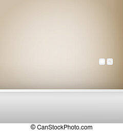 Empty wood panel wall vector