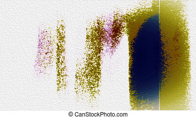 Painterly Abstraction 0199 Painterly abstract shapes and...