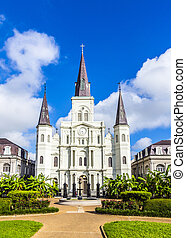 Beautiful Saint Louis Cathedral in the French Quarter in New...