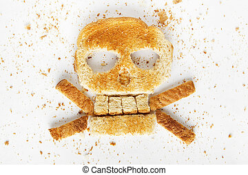 Bread Crossbones - Stock image image of bread skull and...