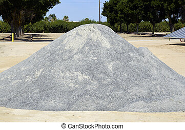 Gravel. - Sand gravel for road construction is on the...