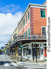 people visit historic building in the French Quarter - NEW...