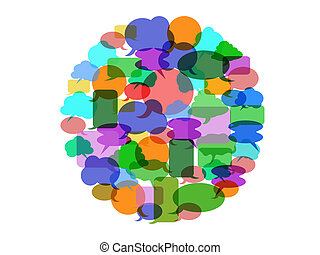Color speech bubble group
