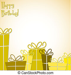 Collection of bright retro presents card in vector format.