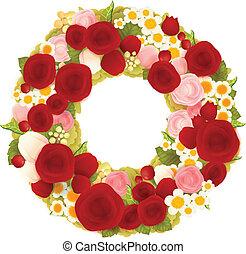 Sweet flower wreath card